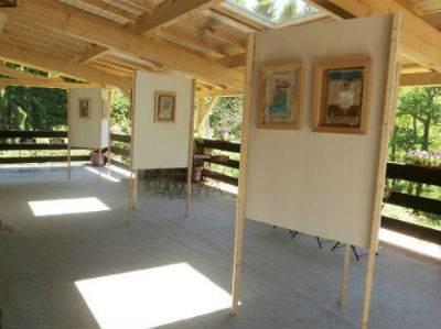 Le Cabinet d`art contemporain - espace terrasse - B. NAREA - Haute-Marne (52)