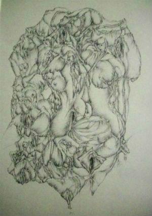 Oeuvre de Jean-Pierre Chauchot - Au Cabinet d`Art Contemporain des Week-ends Art